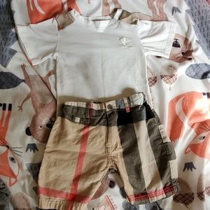 Set plaid t-shirt / shorts